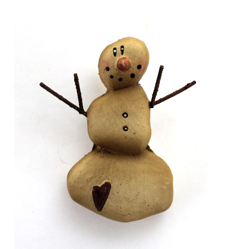 Country Primitive Snowman Pin Winter Wear