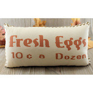Fresh Eggs Pillow Farmhouse Decor