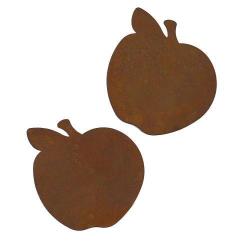 Rusty Tin Apple Cutouts