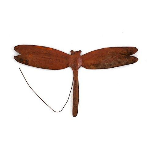 Rusty Tin Dragonfly Pick