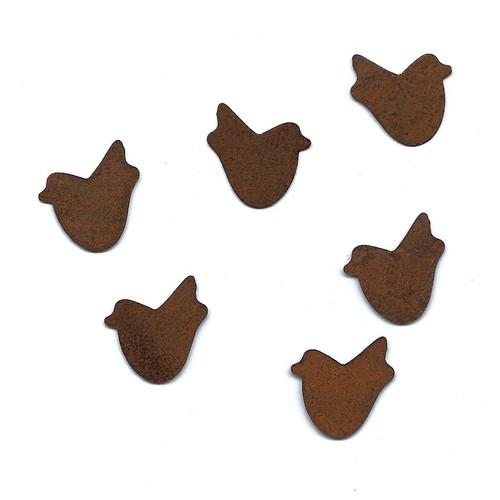 Small Rusty Tin Birds