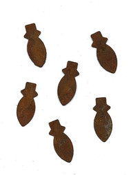 Small Rusty Tin Christmas Bulb Shapes