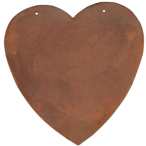 X-Large Rusty Tin Heart with Hang Holes