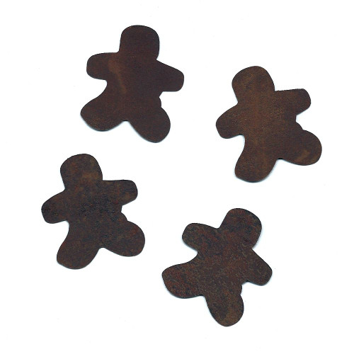 Rusty Tin Gingerbread Man Shapes