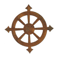 Rusty Tin Compass Shaped Cutouts