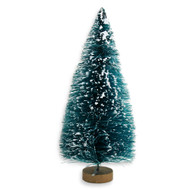 "Miniature Frosted 6"" Sisal Bottle Brush Tree"