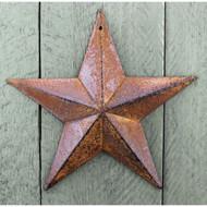 Rusty Black Tin Star