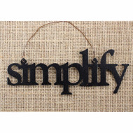 Simplify Tin Word Ornament