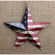 Rusty Tin Americana Star Ornament