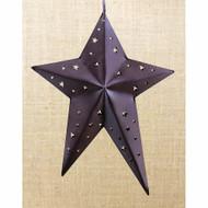 Rusty Tin Folk Star Ornament