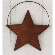 Rusty Tin Corrugated Star Ornament