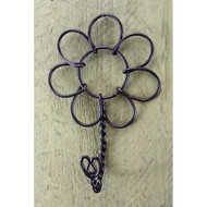 Black Wire Flower Hook Country Garden