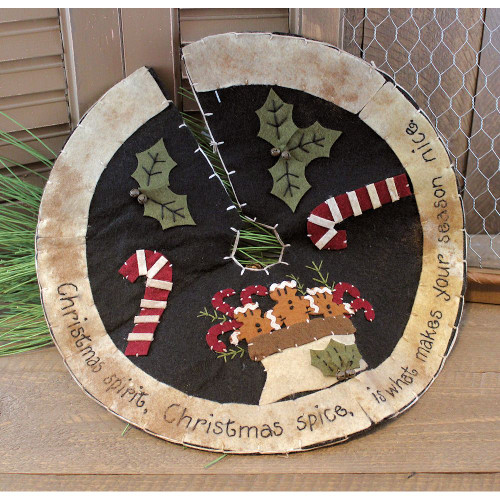 Primitive Gingerbread Spice Tree Skirt