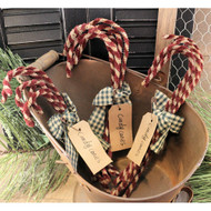 Primitive Chenille Stem Candy Canes