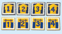 Blockhouse Numerals  (pkg 5)  251259C