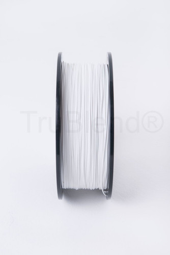White TruBlend 1.75mm PLA 3D printer filament by ORD Solutions Inc - Vertical