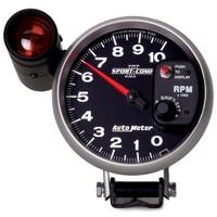 "Auto Meter 5"" Tachometer, Sport-Comp II, Shift-Lite, 10,000 rpm, 3699"