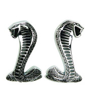 "M-1447-SR Ford Racing Cobra ""Snake"" Fender Emblems (pair)"