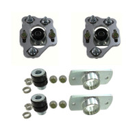 2014-90-06 UPR UPR 90-93 Mustang Billet Caster Camber Plates With Urethane Bushings