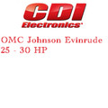 OMC, Johnson, Evinrude 25 - 30 HP outboard ignition application guide