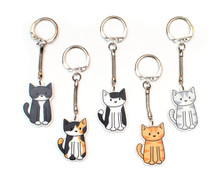 Large Cat Key Ring