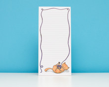 Cat and Yarn Notepad with magnet
