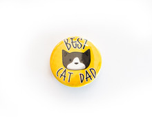 Best Cat Dad - button badge