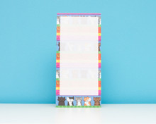 Colourful Cats Notepad with magnet