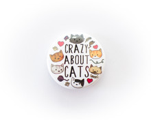 Crazy About Cats - button badge