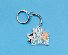 Cats Are Awesome - Key Ring