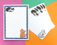 Cats Notepad / Writing Paper - with or without Envelopes