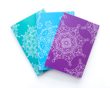 Set of Three Cat Mandala Notebooks - A6 Lined