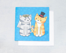 Wedding Cats - Greetings Card
