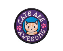 Cats Are Awesome - Embroidered Patch