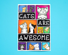 Cats Are Awesome - A4 print
