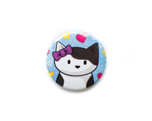 Cat with Bow - button badge