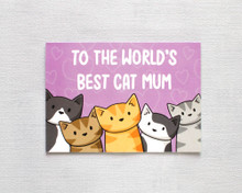Mother's Day Card - To The World's Best Cat Mum