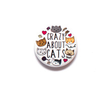 Crazy About Cats - Fridge Magnet