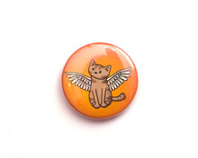Angel Cat - Fridge Magnet