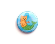 Mermaid Cat - Fridge Magnet