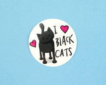 I Love Black Cats - Window Cling