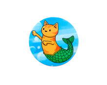 Mermaid Cat - Window Cling