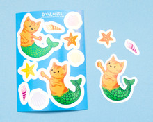 Mermaid Cat Stickers