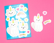 Unicorn Cat Sticker Sheet
