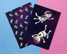 Astronaut Cats - Note Cards - Pack of 6 - Astronaut