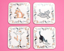 Yoga Cat Coasters