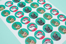 Christmas Costume Stickers - Sheet of 35