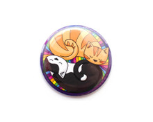 Curled Up Circle Cats - Pocket Mirror