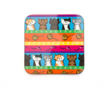 Colourful Cats Coaster