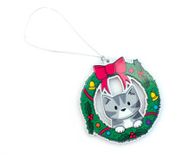 Christmas Decoration - Wreath Cat